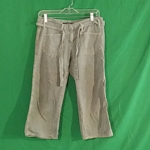 Sanctuary anthro army green capris xs